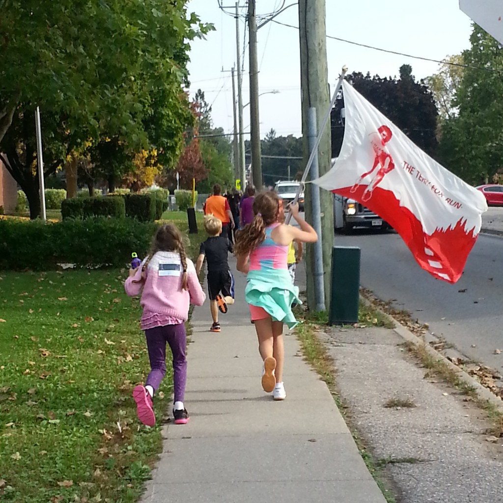 Students participating in the Terry Fox run at Preston PS.